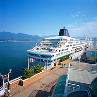 Cruise Ship docked at Canada Place Cruise Ship Terminal, Vancouver, British Columbia, Canada