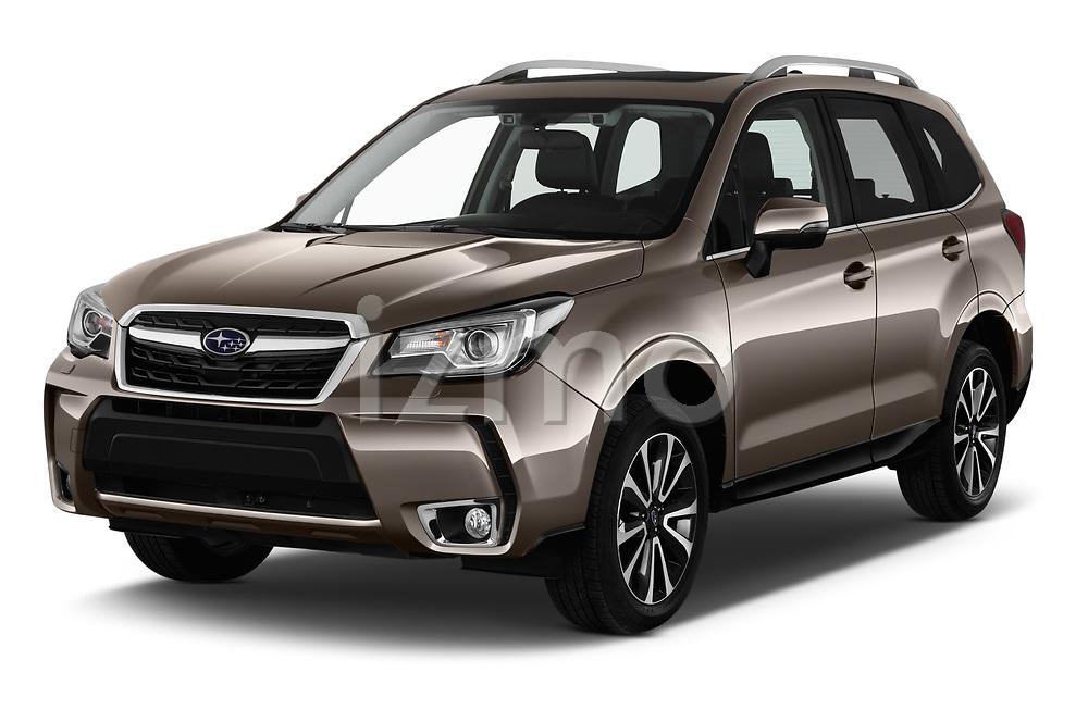 2019 Subaru Forester Luxury 5 Door SUV angular front stock photos of front three quarter view