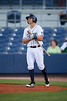 Charlotte Stone Crabs third baseman Kevin Padlo (11) walks to the plate during a game against the Palm Beach Cardinals on April 20, 2018 at Charlotte Sports Park in Port Charlotte, Florida.  Charlotte defeated Palm Beach 4-3.  (Mike Janes/Four Seam Images)