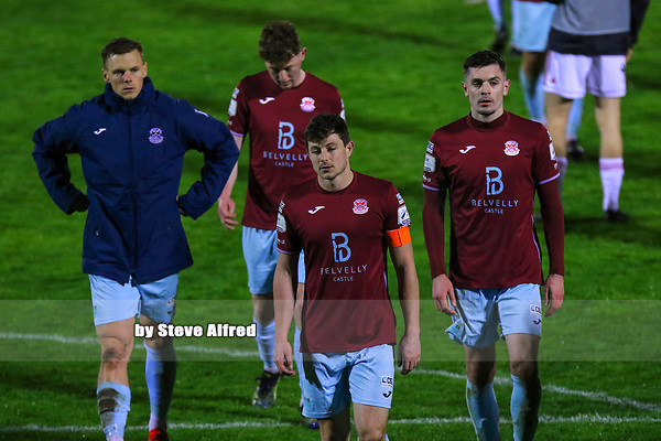 John Kavanagh of Cobh Ramblers and teammates after the game.<br /> <br /> Cork City v Cobh Ramblers, SSE Airtricity League Division 1, 26/3/21, Turner's Cross, Cork.<br /> <br /> Copyright Steve Alfred 2021.