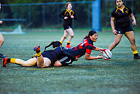 Action from the Wellington 1st XV girls secondary schools rugby union match between Wellington Girls' College and Sacred Heart College at Wakefield Park in Wellington, New Zealand on Saturday, 19 August 2020. Photo: Dave Lintott / lintottphoto.co.nz