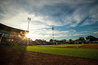 A general view of Perfect Game Field at Veterans Memorial Stadium during a game between the Cedar Rapids Kernels and the Burlington Bees on June 16, 2015 in Cedar Rapids, Iowa. (Brace Hemmelgarn/Four Seam Images)