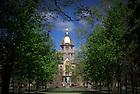 Main Building, Spring 2010..Photo by Matt Cashore/University of Notre Dame