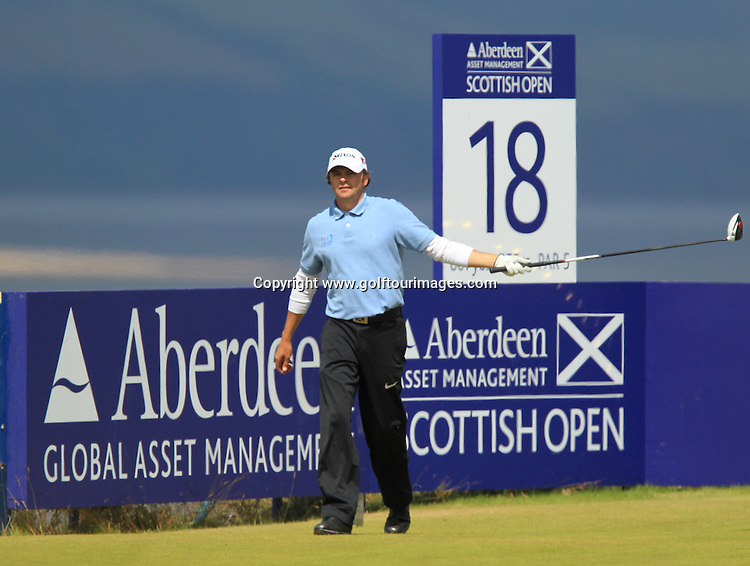 Andrew Marshall (ENG) during the third round of the 2012 Aberdeen Asset Management Scottish Open being played over the links at Castle Stuart, Inverness, Scotland from 12th to 15th July 2012:  Stuart Adams www.golftourimages.com:14th July 2012