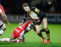 Photo: Richard Lane/Richard Lane Photography. Gloucester Rugby v London Wasps. Aviva Premiership. 02/11/2013 Wasps' Josh Bassett attacks.