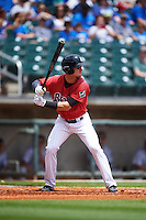 Birmingham Barons designated hitter Adam Engel (7) at bat during a game against the Pensacola Blue Wahoos on May 2, 2016 at Regions Field in Birmingham, Alabama.  Pensacola defeated Birmingham 6-3.  (Mike Janes/Four Seam Images)