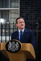 David Cameron (British Prime Minister).<br /> <br /> London, 24/06/2016. The United Kingdom decided to leave the European Union. The British people voted (Turnout 72.2%): 51,9% to leave the EU (17,410,742 Votes) versus 48,1% to remain in the EU (16,141,241 Votes).<br /> <br /> For the full caption please find the 2-page PDF attached at the beginning of this story.<br /> <br /> For more information abou the result please clich here: http://www.bbc.co.uk/news/politics/eu_referendum/results