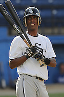 July 22, 2009: Jose Fulgencio of the Bristol White Sox, rookie Appalachian League affiliate of the Chicago White Sox, prior to a game at Burlington Athletic Stadium in Burlington, N.C. Photo by: Tom Priddy/Four Seam Images
