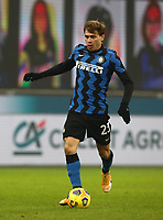 Calcio, Serie A: Inter Milano - Juventus FC , Giuseppe Meazza (San Siro) stadium, in Milan, January 17, 2021.<br /> Inter's Nicolò Barella in action during the Italian Serie A football match between Inter and juventus at Giuseppe Meazza (San Siro) stadium, January 17,  2021.<br /> UPDATE IMAGES PRESS/Isabella Bonotto