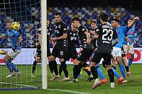 Andrea Petagna of SSC Napoli scores a goal during the Italy Cup football match between SSC Napoli and Empoli FC at stadio Diego Armando Maradona in Napoli (Italy), January 13, 2021. <br /> Photo Cesare Purini / Insidefoto