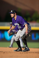 Louisville Bats first baseman Adam Duvall (30) on defense against the Durham Bulls at Durham Bulls Athletic Park on August 9, 2015 in Durham, North Carolina.  The Bulls defeated the Bats 9-0.  (Brian Westerholt/Four Seam Images)