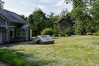 Holzhaus im Gauja-Nationalpark, Lettland, Europa