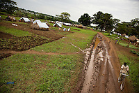 Refugee camp in Nyori South Sudan. the camp  provides shelter to Congolese fleeing  attacks by the LRA along the Congo/South Sudan border belt.
