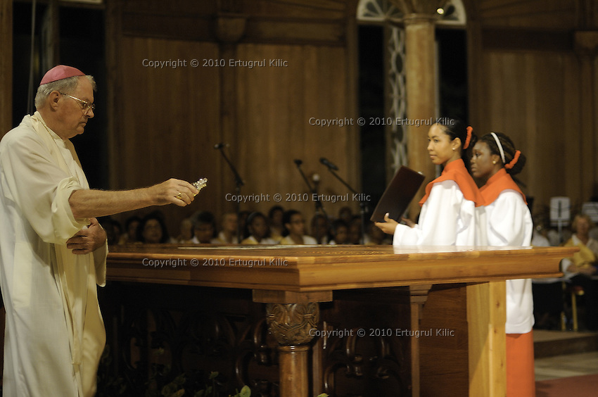 Blessing and First Worship of ST. Petrus and Paulus Cathedral (AKA World's largest wooden cathedral)
