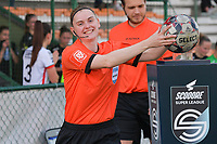 referee Viki De Cremer  pictured during a female soccer game between SV Zulte - Waregem and White Star Woluwe on the 10 th and last matchday in play off 2 of the 2020 - 2021 season of Belgian Scooore Womens Super League , saturday 29 of May 2021  in Zulte , Belgium . PHOTO SPORTPIX.BE | SPP | DIRK VUYLSTEKE