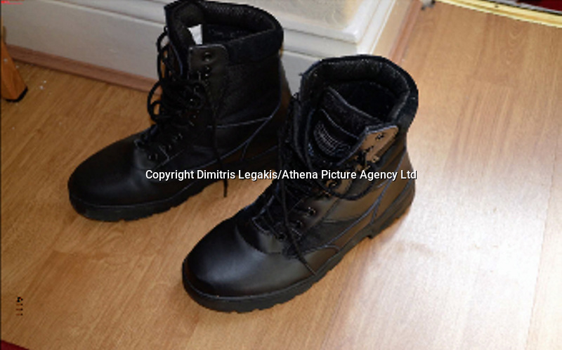 """Pictured: Boots recovered from the house of Kristen Brekke<br /> Re: Three men accused of helping a Cardiff teenager travel to Syria to fight with Islamic extremists are facing jail.<br /> Kristen Brekke, 20, from Cardiff, Forhad Rahman, from Cirencester, and Adeel Ulhaq, from Nottinghamshire, have been found guilty of helping in the preparation of an act of terrorism.<br /> The Old Bailey heard they helped Aseel Muthana, 19, join so-called Islamic State terrorists in February 2014.<br /> The court heard the defendants shared the same """"highly-radical ideology"""".<br /> They will be sentenced later on Wednesday."""