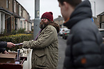 A home fans buying a souvenir programme outside the stadium before Burnley hosted Everton in an English Premier League fixture at Turf Moor. Founded in 1882, Burnley played their first match at the ground on 17 February 1883 and it has been their home ever since. The visitors won the match 5-1, watched by a crowd of 21,484.