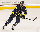 Chris LeBlanc (Merrimack - 16) - The visiting Merrimack College Warriors defeated the Boston College Eagles 6 - 3 (EN) on Friday, February 10, 2017, at Kelley Rink in Conte Forum in Chestnut Hill, Massachusetts.