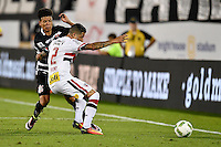 Orlando, FL - Saturday Jan. 21, 2017: Corinthians midfielder Marquinhos Gabriel (31) has the ball tackled away by São Paulo midfielder Bruno (2) during the first half of the Florida Cup Championship match between São Paulo and Corinthians at Bright House Networks Stadium.