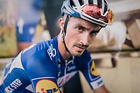 Julian Alaphilippe (FRA/Quick Step Floors) post-stage<br /> <br /> Stage 1: Noirmoutier-en-l'Île > Fontenay-le-Comte (189km)<br /> <br /> Le Grand Départ 2018<br /> 105th Tour de France 2018<br /> ©kramon