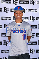 Robbie Tillman (10) of Columbus High School in Columbus, Georgia during the Baseball Factory All-America Pre-Season Tournament, powered by Under Armour, on January 12, 2018 at Sloan Park Complex in Mesa, Arizona.  (Mike Janes/Four Seam Images)