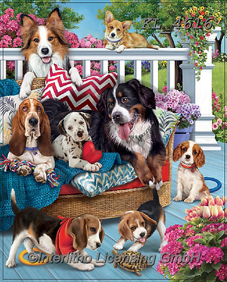 Interlitho-Simonetta, REALISTIC ANIMALS, REALISTISCHE TIERE, ANIMALES REALISTICOS, paintings+++++,dogs,KL4616,#a#, EVERYDAY ,puzzle,puzzles ,puzzle,puzzles