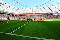 Fifa Women's World Cup Germany 2011 : Colombia - Sweden at Bayarena Leverkusen : line - up voor de match.foto DAVID CATRY / Vrouwenteam.be