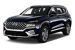2021 Hyundai Santa-FE SEL 5 Door SUV Angular Front automotive stock photos of front three quarter view