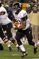 Cincinnati running back Isaiah Pead (23). Cincinnati Bearcats defeated the Pitt Panthers 26-23 at Heinz Field in Pittsburgh, Pennsylvania on November 5, 2011.