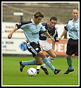 28/9/02       Copyright Pic : James Stewart                     .File Name : stewart-falkirk v st j'stone 12.PAUL HARTLEY HOLDS OFF MARK KERR......James Stewart Photo Agency, 19 Carronlea Drive, Falkirk. FK2 8DN      Vat Reg No. 607 6932 25.Office : +44 (0)1324 570906     .Mobile : + 44 (0)7721 416997.Fax     :  +44 (0)1324 570906.E-mail : jim@jspa.co.uk.If you require further information then contact Jim Stewart on any of the numbers above.........