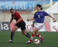 MAR 13, 2006: Faro, Portugal:  Marinette Pinchon, Christine Rampone