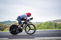 Lisa Brennauer (DEU)<br /> <br /> Women Elite Time trial from Imola to Imola (31.7km)<br /> <br /> 87th UCI Road World Championships 2020 - ITT (WC)<br /> <br /> ©kramon