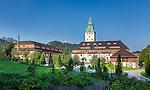 Germany, Upper Bavaria, Werdenfelser Land, near Klais: 5-Stars-Hotel Castle Elmau - Cultural Hideaway and Luxury Spa | Deutschland, Bayern, Oberbayern, Werdenfelser Land, bei Klais: 5-Sterne-Hotel Schloss Elmau - Cultural Hideaway and Luxury Spa
