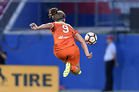Frisco, TX - Sunday September 03, 2017: Sarah Hagen during a regular season National Women's Soccer League (NWSL) match between the Houston Dash and the Seattle Reign FC at Toyota Stadium in Frisco Texas. The match was moved to Toyota Stadium in Frisco Texas due to Hurricane Harvey hitting Houston Texas.