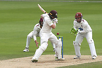 Surrey batsman, Mark Stoneman, leaves a delivery and the ball just bounces over the stumps during Surrey CCC vs Somerset CCC, LV Insurance County Championship Group 2 Cricket at the Kia Oval on 13th July 2021