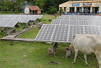 "Asien Suedasien Indien Westbengalen , Sagar Insel im Gangesdelta , Energiegewinnung mit Solarenergie und Windenergie , off-grid System zur laendlichen Energieversorgung - renewables Energie laendliche Entwicklung xagndaz | .South asia India West-Bengal , Sagar Island at Sundarbans the delta of Ganges river , solar power station in front of school as off-grid system for rural electrification - renewable energy rural development .| [ copyright (c) Joerg Boethling / agenda , Veroeffentlichung nur gegen Honorar und Belegexemplar an / publication only with royalties and copy to:  agenda PG   Rothestr. 66   Germany D-22765 Hamburg   ph. ++49 40 391 907 14   e-mail: boethling@agenda-fototext.de   www.agenda-fototext.de   Bank: Hamburger Sparkasse  BLZ 200 505 50  Kto. 1281 120 178   IBAN: DE96 2005 0550 1281 1201 78   BIC: ""HASPDEHH"" ,  WEITERE MOTIVE ZU DIESEM THEMA SIND VORHANDEN!! MORE PICTURES ON THIS SUBJECT AVAILABLE!!  ] [#0,26,121#]"