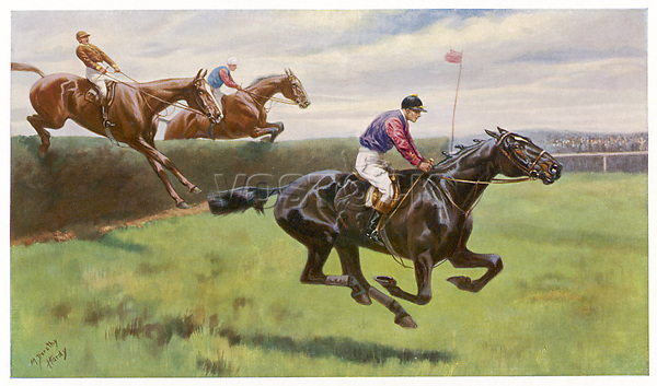 'Ambush II' owned by King Edward VII wins the Grand National.     Date: 1900     Source: Miss D M Hardy in 'King Edward VII as a Sportsman' 1911 page 250