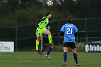 Piscataway, NJ - Sunday April 15, 2018: Morgan Andrews during a regular season National Women's Soccer League (NWSL) match between Sky Blue FC and the Seattle Reign FC at Yurcak Field.
