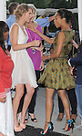 Zoe Saldana and Taylor Swift at FOX's 2012 Teen Choice Awards held at The Gibson Ampitheatre in Universal City, California on July 22,2012                                                                               © 2012 Hollywood Press Agency