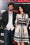 """Paz Vega and Juan Diego Botto attends """"La Ignorancia de la Sangre"""" presentation at Princesa Cinema in Madrid, Spain. November 13, 2014. (ALTERPHOTOS/Carlos Dafonte)"""