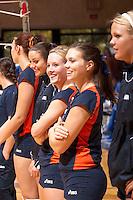 SAN ANTONIO, TX - NOVEMBER 11, 2006: The University of Texas at Arlington Mavericks vs. The University of Texas at San Antonio Roadrunners Volleyball at the UTSA Convocation Center. (Photo by Jeff Huehn)