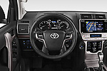 Car pictures of steering wheel view of a 2018 Toyota Land-Cruiser-150 Lounge 5 Door SUV Steering Wheel