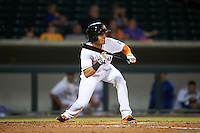 Mesa Solar Sox Yefri Perez (1), of the Miami Marlins organization, during a game against the Peoria Javelinas on October 15, 2016 at Sloan Park in Mesa, Arizona.  Peoria defeated Mesa 12-2.  (Mike Janes/Four Seam Images)