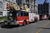 June 22  2012 - Montreal (Quebec) CANADA - Montreal's fireman funerals at Notre-dame Basilica