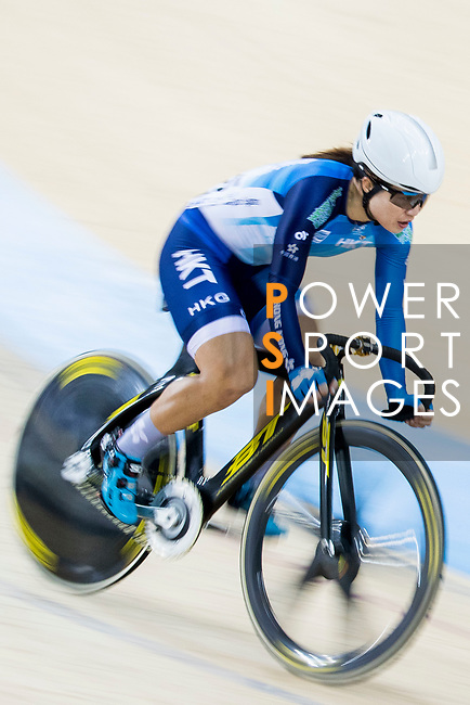 Diao Xiao Juan of Hong Kong competes in the Women's Scratch 10 km final as part of the 2017 UCI Track Cycling World Championships on 12 April 2017, in Hong Kong Velodrome, Hong Kong, China. Photo by Chris Wong / Power Sport Images