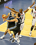 USA's Kobe Bryant (r) and Argentina's Emanuel Ginobili during friendly match.July 22,2012. (ALTERPHOTOS/Acero)