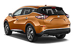 Car pictures of rear three quarter view of a 2018 Nissan Murano Platinum 5 Door SUV Angular Rear