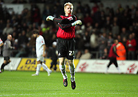 Pictured: Alan Tate of Swansea City in action<br /> Re: Coca Cola Championship, Swansea City Football Club v Queens Park Rangers at the Liberty Stadium, Swansea, south Wales 21st October 2008.