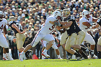 South Bend, IN - OCTOBER 4:  Defensive end Tom Keiser #94 of the Stanford Cardinal during Stanford's 28-21 loss against the Notre Dame Fighting Irish on October 4, 2008 at Notre Dame Stadium in South Bend, Indiana.
