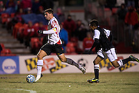 Jake Pace (20) of Maryland sprints forward on a breakaway during the second round of the NCAA tournament at Ludwig Field in College Park, MD.  Maryland defeated Providence, 3-1.